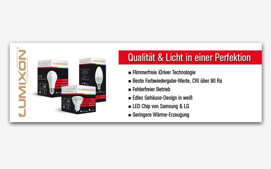 Slider für hochwertige LED-Produkte