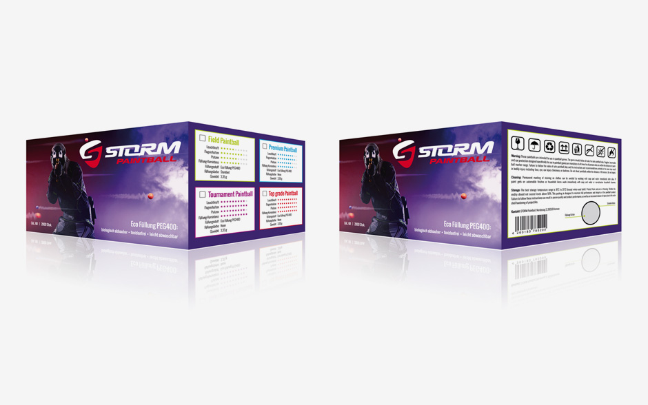 Storm Paintball Verpackungsdesign