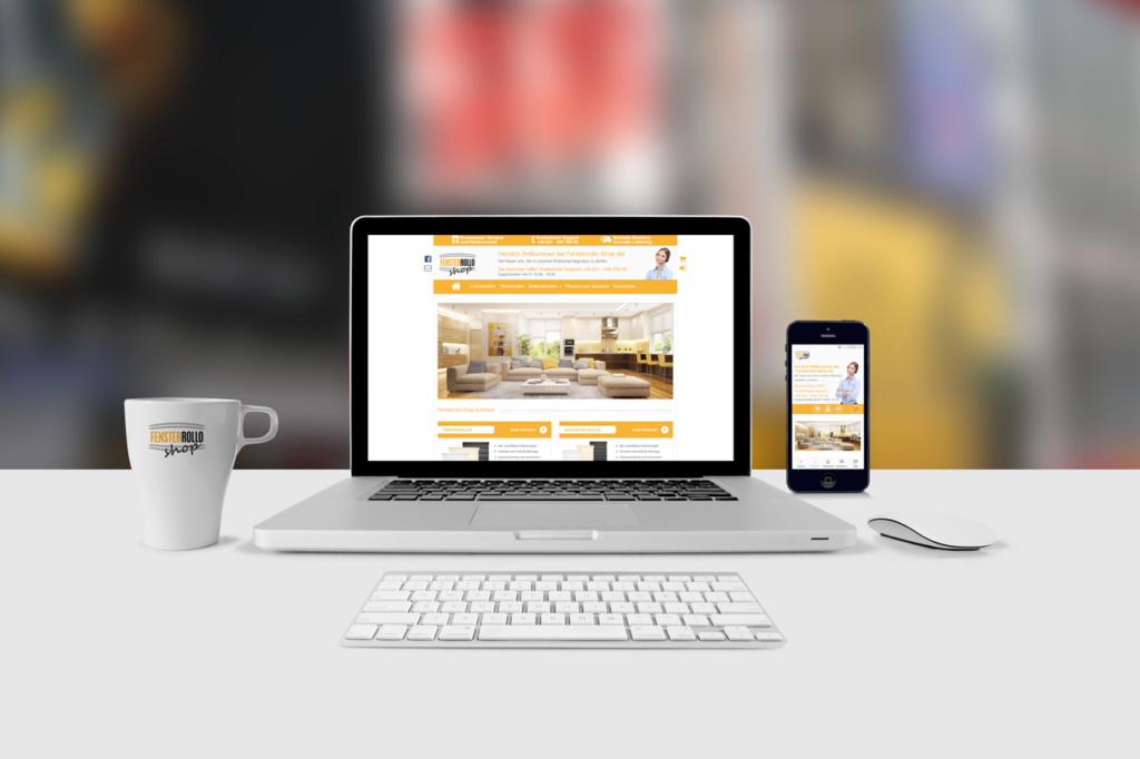 Fensterrollo Shop Webdesign