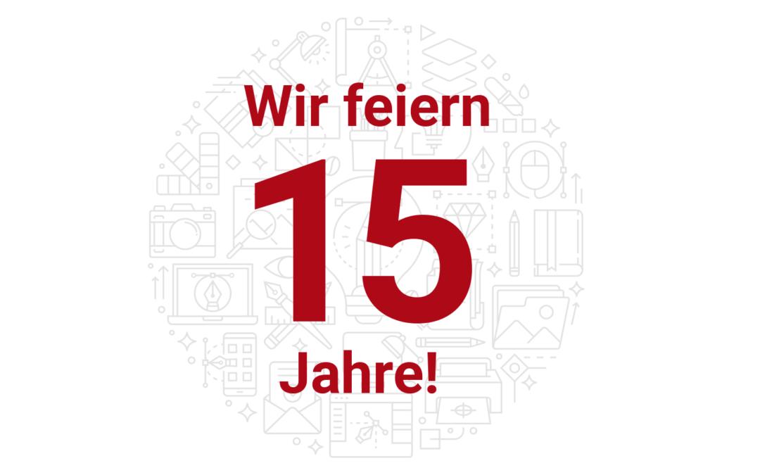 Wir feiern 15 Jahre Agentur Design Rockel!