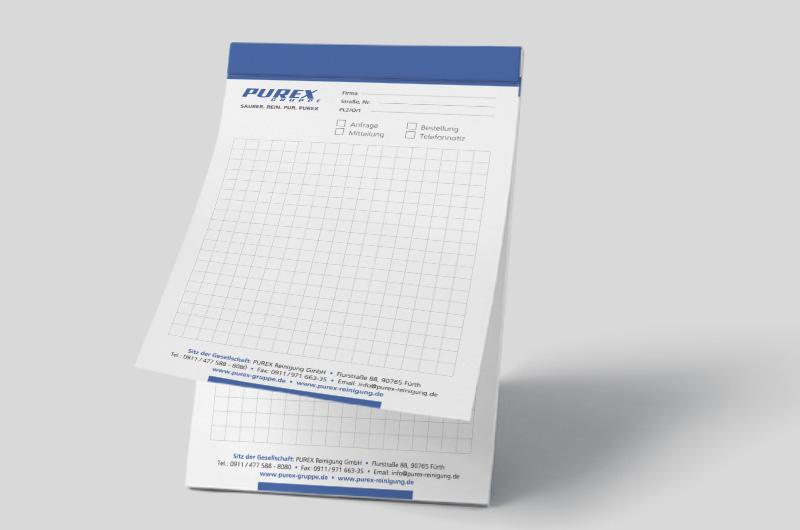 Schreibblock Purex